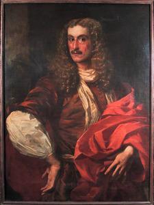 Portret van een man met een rode mantel