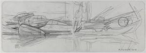 Study for Stadhouderskade, two-page drawing