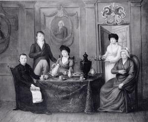 Portret van de familie van Jacobus Moons (1718-1790) en Anna Elisabeth Peeters (1740-....)
