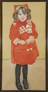 Loesje in rood jasje