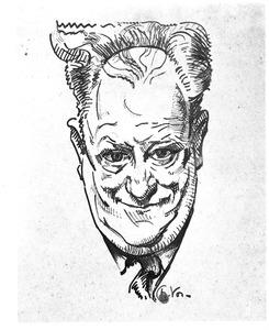 Zelfportret van Charles Vos (1888-1954)