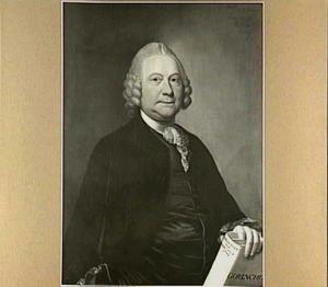 Portret van Mr. Nicolaas de Gijselaar (1712-1780), burgemeester en pensionaris van Gorinchem, Raad in de rekenkamer van Holland, echtgenoot van Johanna Maria van Boerhaven (1726-1787)
