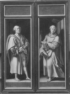 De H. Petrus (links); de H. Stefanus (rechts)