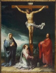 De gekruisigde Christus met Maria, Maria MAgdalena en Johannes