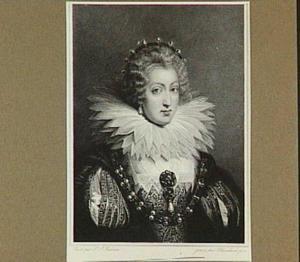 Portret van Anna van Oostenrijk (1601-1666), echtgenote van Lodewijk XIII, koning van Frankrijk