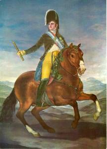 Koning Fernando VII te paard