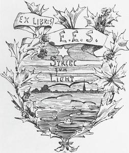 Ex libris for E.E. Seelig: Strebe zum Licht