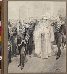 De doop van de latere koningin Juliana (1909-2004) in de Willemskerk te Den Haag, 5 juni 1909