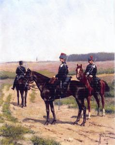 Voorhoede van het tweede regiment Nederlandse infanterie