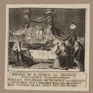 Prins Willem II van Oranje opgebaard