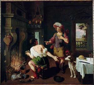 Esau verkoopt zijn eerstgeboorterecht aan Jacob voor een schotel linzen (Genesis 25:32-33)