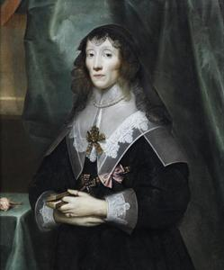 Portret van koningin Henrtietta Maria in de rouw