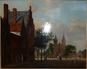 Xanten, plein met op de achtergrond de Sankt Victor