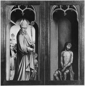 De H. Martinus van Tours met stichter (links), Christus als Man van Smarten (rechts)