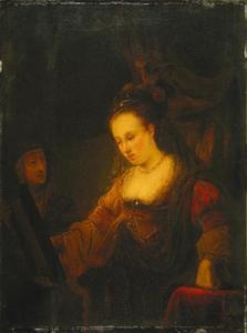 Jonge en oude vrouw voor de spiegel
