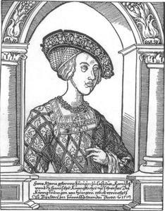 Portret van Maria van Hongarije (1503-1547)