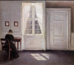 Kamer van het huis van de kunstenaar te Strandgade