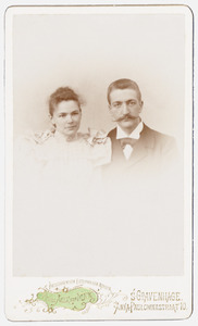 Portret van Habbina Catharina Cornelia Knottnerus (1859-1945) en Reinier Meeuwenberg (1872-...)