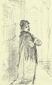 Spaanse vrouw met een tokkelinstrument