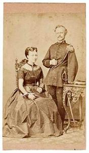 Portret van Jan Hendrik Knijff (?-1884) en Cornelia Marie Wilhelmina Voogt (?-1916)
