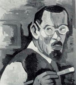 Zelfportret met penseel
