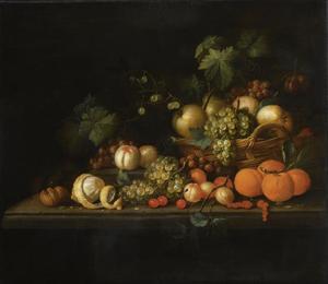 Vruchtenstilleven met walnoten