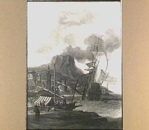 Engels schip voor een mediterrane haven