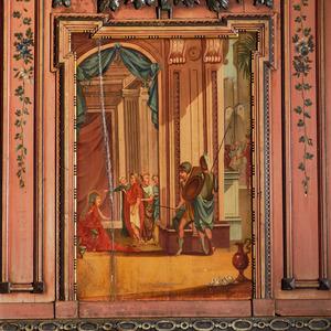 De vrouw van  Potifar beschuldigt Jozef