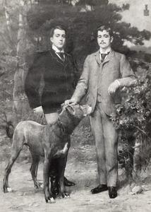 Portret van Hendrik Philip Jacob baron van Heemstra (1867-1931) en Aarnoud Jan Anne Aleid baron van Heemstra (1871-1957)