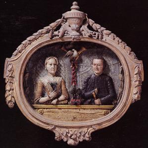 Portret van Johannes Schiotling (1730-1799) en Margaretha Sophia Jansen (1740-1801)