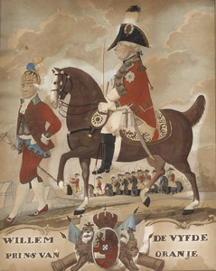 Portret van stadhouder  Willem V van Oranje-Nassau (1748-1806)