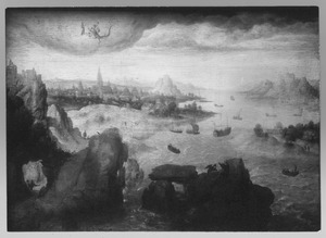 Rivierlandschap met de H. Johannes op Patmos