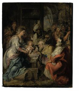 De aanbidding der Wijzen (Matt. 2:11)