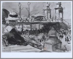 Gezicht op de oude pier van Scheveningen