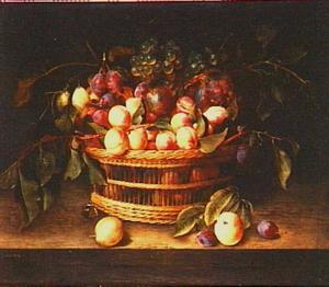 Vruchtenstilleven in een mandje