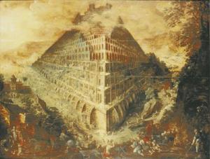De bouw van deToren van Babel (Genesis 11:3-5)