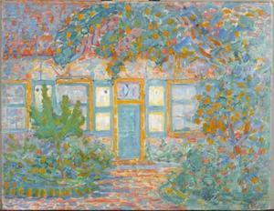 Huisje bij zon (authentiek)