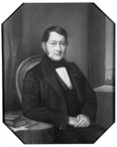 Portret van Abraham Calkoen (1797-1873)