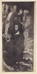 De H. Johannes de Doper met zes apostelen
