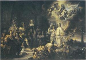 Hertog Frederick III van Holstein-Gottorf en zijn familie bij het vredesfeest van 1652