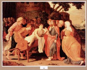 De opwekking van de jongeling te Naïn (Lucas 11:13-14)