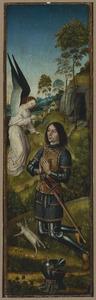 Gideon met het vlies (Richteren 6:37-40; op de buitenzijde: de H.  Jacobus de Meerdere)