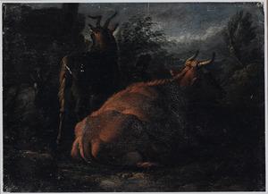 Rustende koe en geiten