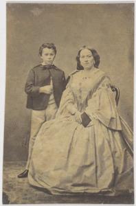 Portret van Adriana Maria van de Garde (1818-1889) en Jacobus Adrianus Marinus Everts (1851-1927)