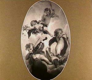 Medaillon met voorstelling van de Vijf Zintuigen