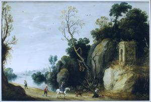 Berglandschap met kapel