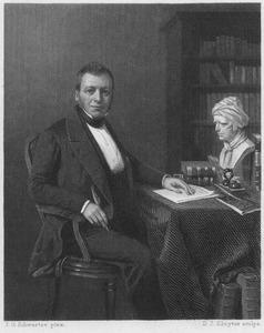 Portret van Isaac da  Costa (1798-1860)