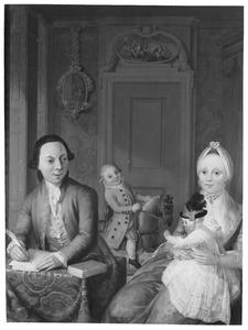 Portret van de familie van Pieter Blusse (1748-1823) en Sophia Arnolda Vermeer (1753-1819)