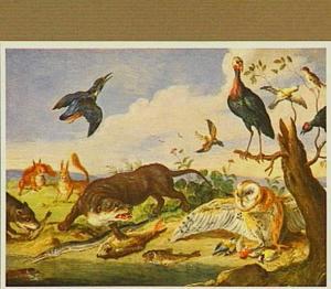 Dieren in een landschap