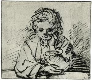 Jong meisje in het venster